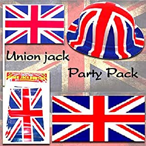 Union jack decoration pack small toys games for Decoration murale union jack