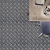JY ART Z Fliesenaufkleber Dekorative Wandgestaltung mit Fliesenaufklebern für Küche und Bad, Deko-Fliesenfolie für Küche u. Grau CZ046, 20 * 20cm