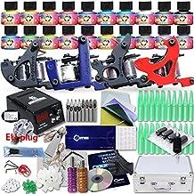 Complete Beginner Tattoo Kit 4 Machine Gun 20 Color USA Brand Inks Power Supply Needles Set Equipment D175-3EUYMX