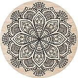 Cuadros Lifestyle 2D-Wandobjekt aus Holz   Mandala   Zeichen   Floral   Radial   Wandteller   Holzbild   Shabby-Look   Landhaus   Vintage   Holzobjekt   Deko   Holzdruck   Geschenk, Größe:ca. 30x30cm