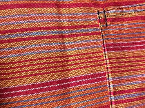 Shopoholic Mode Mehrfarbig Dharke streifen Opa Kapuzenpulli Hemd,Leicht NEU orange