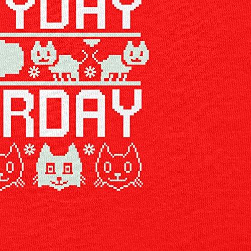 TEXLAB - Everyday Caturday - Damen Kapuzenpullover Rot