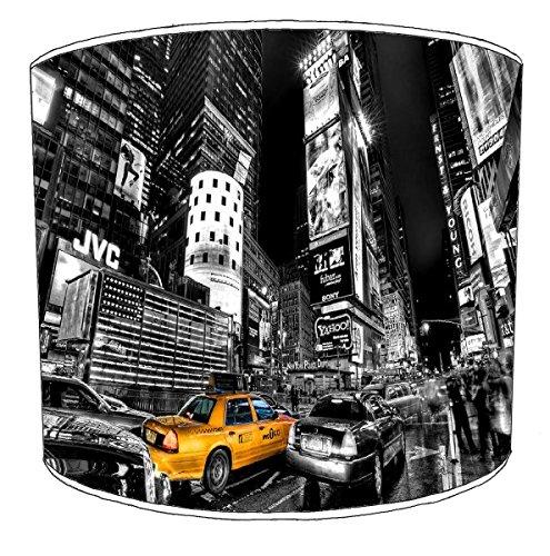 Lámpara de mesa de Nueva york henselite blanco y negro de taxis shop, 30,5 cm