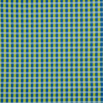 Green gingham check 100/% cotton fabric patchwork craft quilting