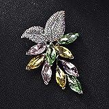 MAFYU Alta calidad Color del broche ramillete de uva cadena cristal juego accesorios