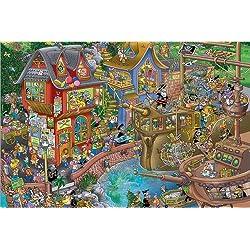 """Imágen sobre lienzo """"Harbour"""" de Steve Skelton, 180 x 120 cm."""
