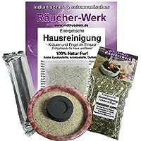 Räuchern Set 5-tlg Räucherwerk Energetische Hausreinigung: Kräuter und Engel #81261 | XXL Räuchermischung + Räucherschale... preisvergleich bei billige-tabletten.eu