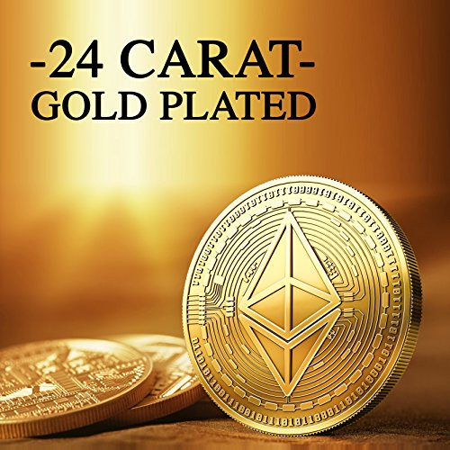 Physische Ethereum Münze mit 24-Karat Echt-Gold überzogen. Wahres Sammlerstück mit Schutzhülle, Münzkapsel. Ein Muss für jeden Ethereum-Fan + GRATIS E-Book gegen Cyber-Attacken - 2