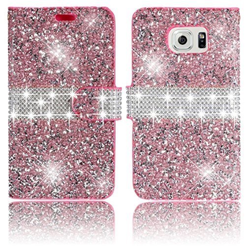galaxy-s7-edge-pink-bling-wallet-casevandot-pu-leather-flip-stand-case-magnetic-closure-3d-elegant-d