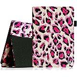 Fintie Amazon Kindle Fire HD 7 2013 Funda - Folio Slim Smart Case Funda Carcasa con Stand Función y Auto-Sueño / Estela para Kindle Fire HD (3ª generación - modelo de 2013), Leopard Pink