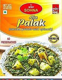 Sohna Ready To Eat -Alu Palak (450 Gram) Pack Of 1- Sbtm