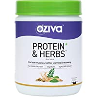 OZiva Protein & Herbs for Men, Chocolate, 16 Servings, 500 g