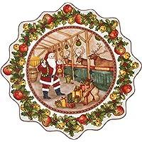 Villeroy & Boch Toy's Fantasy Plato Grande para pastas Establo, 42 cm, Porcelana Premium, Verde/Rojo/Blanco