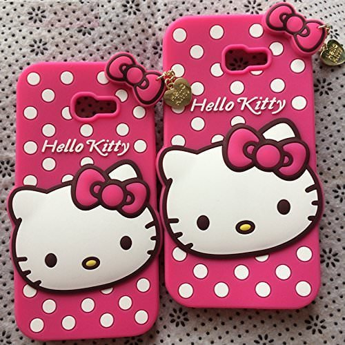 uk availability baedd 85b3d Qzey Cat Designer Hello Kitty Back Cover For Samsung Galaxy C7 Pro -Pink