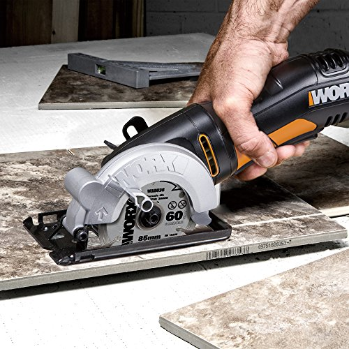 The WORX WX423 85mm 400w Compact Circular Saw is perfect for those small jobs around the home or basic DIY jobs the larger saws would simply be to large to attempt.