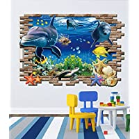 Finding Nemo wall stickers 3D underwater world of the sea fashion wall sticker