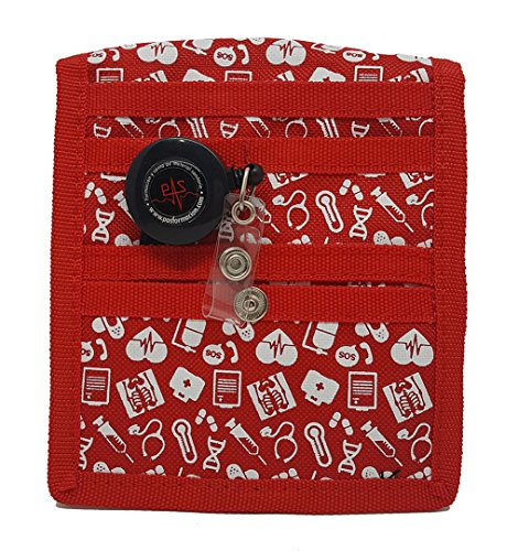 Organizador de bolsillo rojo