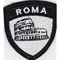 Patch Escudo Roma del Coliseo cm 6x 7parche bordado bordado Termoadhesivo -1099