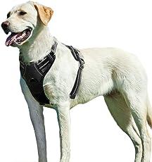 Eagloo Hundegeschirr für Große Hunde Anti Zug Geschirr No Pull Sicherheitsgeschirr Kleine Mittlere Hunde Ausbruchsicher Brustgeschirr Dog Harness mit Brustring Sport Weich Gepolstert Atmungsaktiv