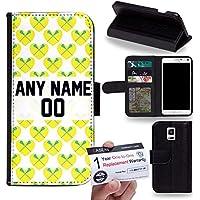 Case88 [Samsung Galaxy Note 4] Custodia in PU Pelle, Supporto Stand e Porta Carte Integrati Portafoglio Flip Cover - Personalizzata Sports Design Girls Lacrosse DSE0197