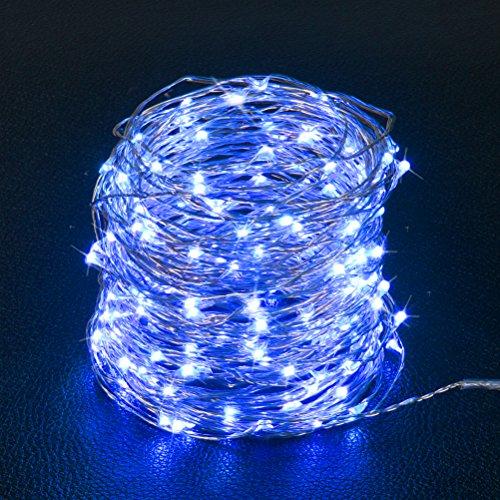 Ankway Solar Led Lichterkette (200 LED, 72 ft/22M, 8 Modi), wasserdicht Solar Lichterkette mit 3-Strang Kupferdraht für außen/innen, Garten, Schlafzimmer, Party, Weinachten, Hochzeit (Blau)