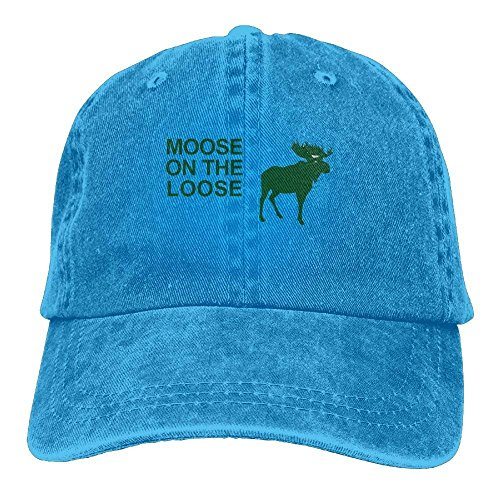 f9d2621aba40e ewtretr Caps Trucker Hat Moose on The Loose Cowboy Baseball Hats Adjustable  Unisex Suitable for All