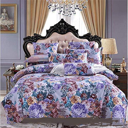 SHJIA Bettwäsche-Sets Twin Full Queen King Bettbezüge Bettbezug Kissenbezüge Set A 150x200cm (Lavendel Twin Bettwäsche-set)