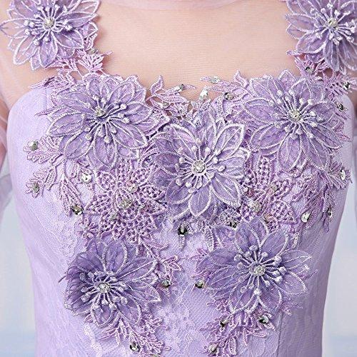Drasawee - Robe - Trapèze - Femme violet foncé