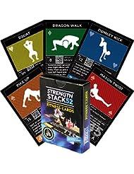 Ejercicio tarjetas: fuerza pila 52peso corporal entrenamiento jugar juego de cartas. Diseñado por un militar Fitness experto. Equipo de vídeo incluye instrucciones. No necesita. Quemar Grasa y construir músculo en casa.