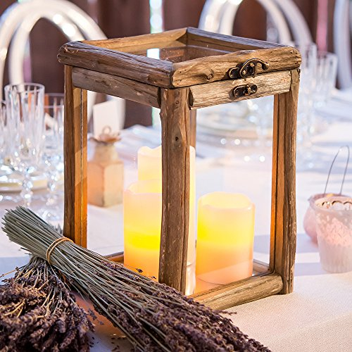 Unbekannt Rustikal Holz und Glas Box mit Klappdeckel Stil/