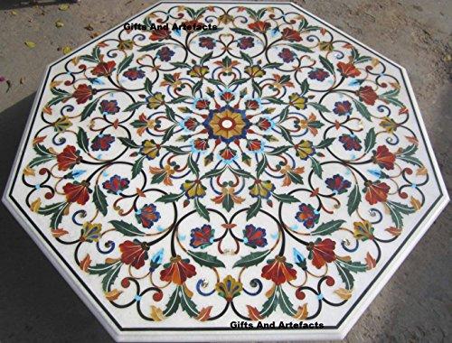 Tavoli Di Marmo Intarsiati : Gifts and artefacts 152 4 cm marmo bianco multi color pietra