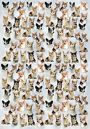 Image of Corgi Dog Gift Wrapping Paper with Small Gift Card Design by Starprint