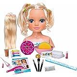 Nancy - Un día de Secretos de Belleza Rubia, busto de muñeca con el pelo largo para peinar y maquillar, con accesorios de bel