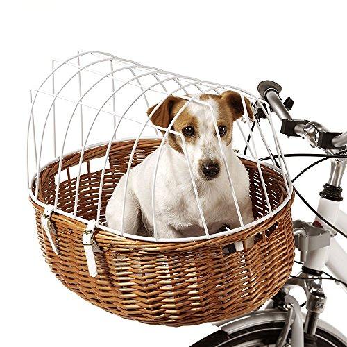Aumüller Fahrradkorb Weidenkorb Transportkorb mit Schutzgitter Gr. L für den Lenker