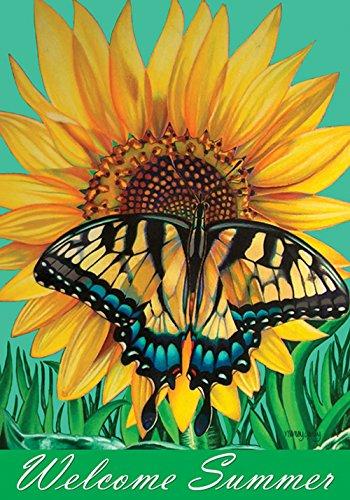 Toland Home Gartenflagge mit Schwalbenschwanz, Sonnenblume in den USA hergestellt House Flag (28