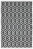 Fab Habitat Samsara interior/exterior alfombra de polipropileno, en blanco y negro, algodón, blanco y negro, 2' x 3'