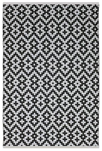 Fab Habitat Samsara interior/exterior alfombra de polipropileno, en bl