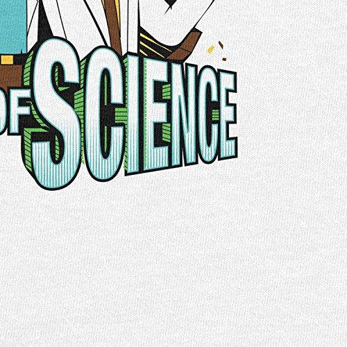 Planet Nerd - Men of Science - Herren Langarm T-Shirt Weiß