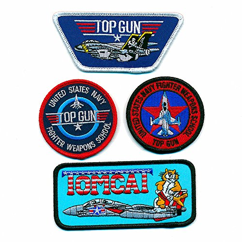 4 USA TOP GUN Navy Fighter Weapon School Tomcat US Patches Aufnäher Aufbügler 0903 (Patches Navy Cruise)