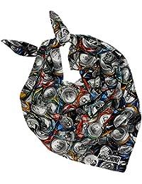 "Moschino Chiffon de soie ""Tin & Can, by Jeremy Scott, 100% soie, 90x 90cm"
