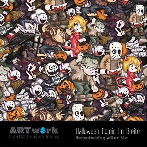 ARTwork Wassertransferdruck Folie Halloween Comic 1m Breite
