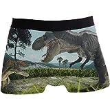 JIRT Boxer da Uomo Slip Dinosaurs Underwear da Uomo Traspirante Elasticizzato Trunks Bulge Pouch Soft Underpants