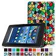 Fintie Fire 7 2015 Hülle - Ultra Slim Lightweight Schutzhülle Tasche Smart Shell Case mit Standfunktion für Amazon Fire 7 Zoll (5. Generation - 2015 Modell) Tablet, Mosaic
