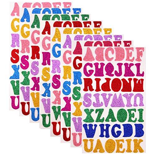 eber aus Schaumstoff, selbstklebend, Motiv: Alphabet/Buchstaben, 7zufällige Farben, 328Stück auf 8Blatt ()