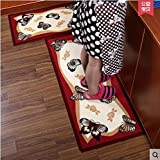 FHG Küchen-Fußmatten, Lange Streifen Rutschfester, saugfähiger Ikea-Teppiche, Fußmatten, Haustüren, verschleißfeste Fußmatten,C,50 * 180cm