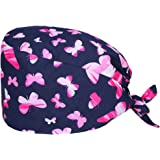 TENDYCOCO Copricapo in Cotone con Stampa di Farfalle Cappello da Lavoro Cappello da Lavoro in Cotone per Donne con Capelli Lu