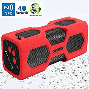 sawake bluetooth 4 0 lautsprecher nfc wireless subwoofer wasserdicht shockproof audio musik. Black Bedroom Furniture Sets. Home Design Ideas