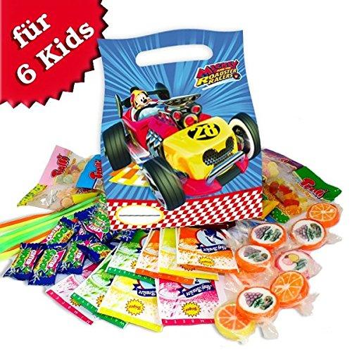 (Mickey Mouse Roadster Geschenktüten mit Süßem für Mickymaus Kindergeburtstag)