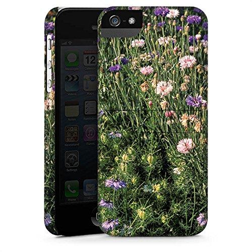 Apple iPhone X Silikon Hülle Case Schutzhülle Blumenwiese Wildblumen Blumenfeld Premium Case StandUp