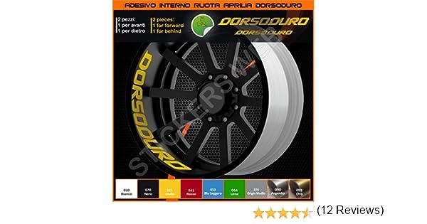 070 Nero 0277 Aprilia Dorsoduro adesivi ruote interno strisce cerchi decalcomanie strip cerchioni Cod